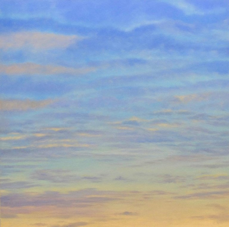 willard dixon banded sky oil painting sunset clouds serene for sale at 1stdibs banded sky oil painting sunset clouds serene