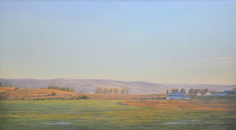 Evening Light / oil on canvas painting