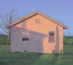 EVENING LIGHT- oil on canvas - home house soft western light