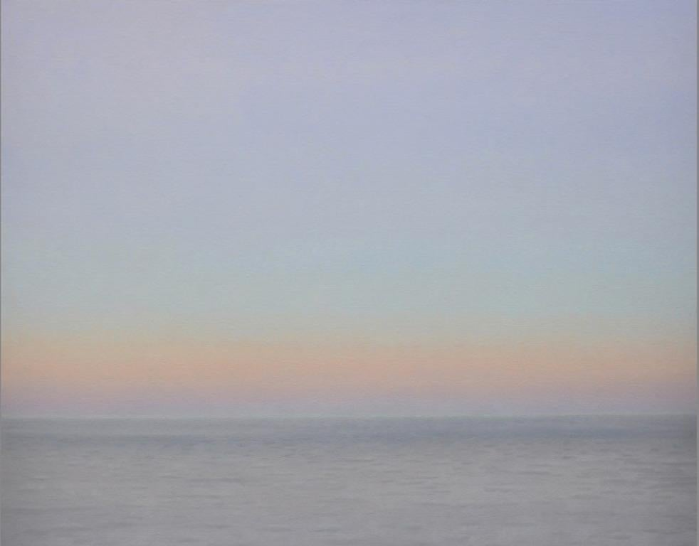 EVENING OCEAN / sky and water natural abstraction oil on canvas, serene