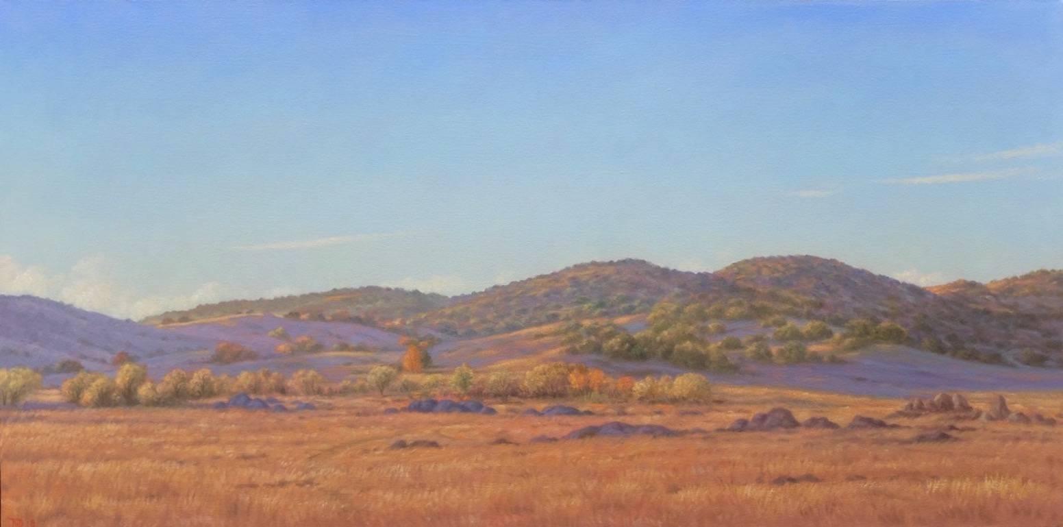 Going to Borrego / oil on canvas landscape desert painting