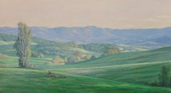 Green Fields /  American realism, Dixon, green hills and sky