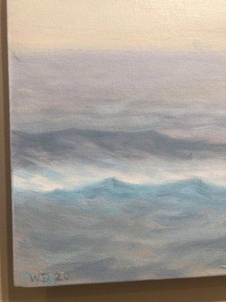Grey Ocean - American Realist Painting by Willard Dixon
