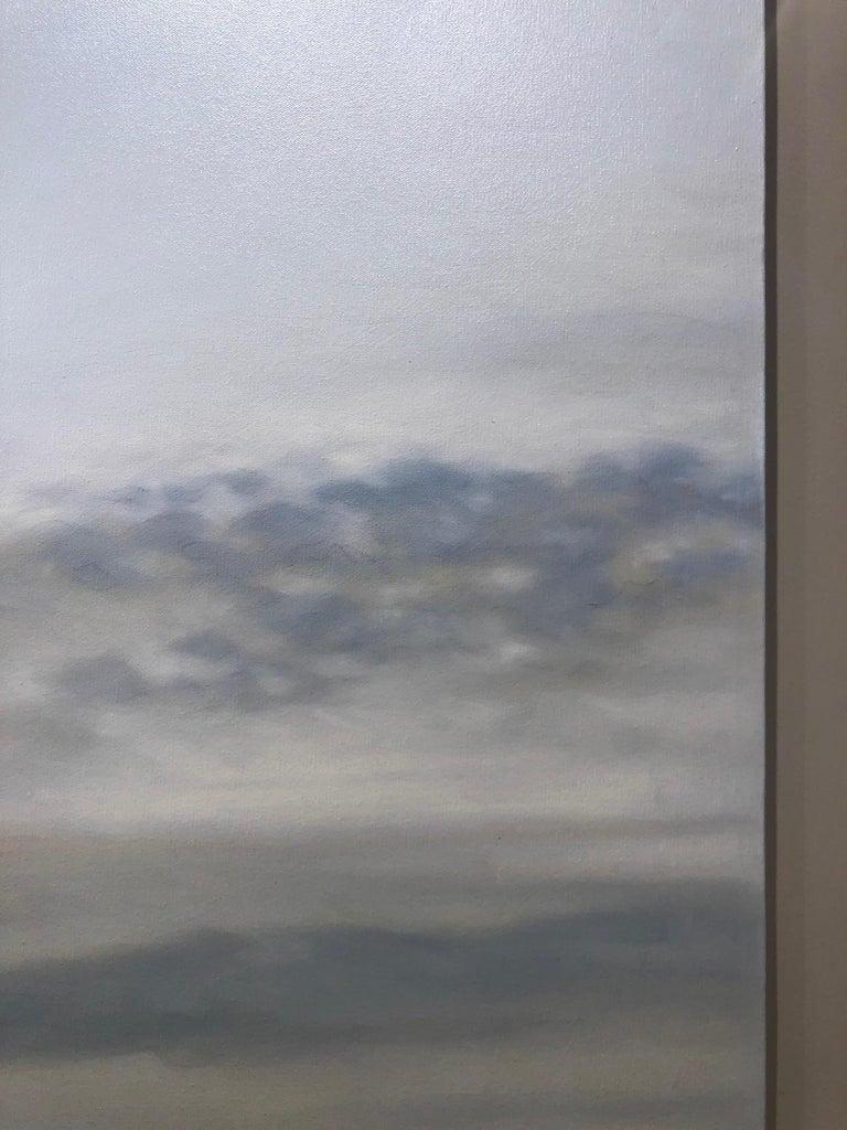 Grey Ocean - Gray Still-Life Painting by Willard Dixon