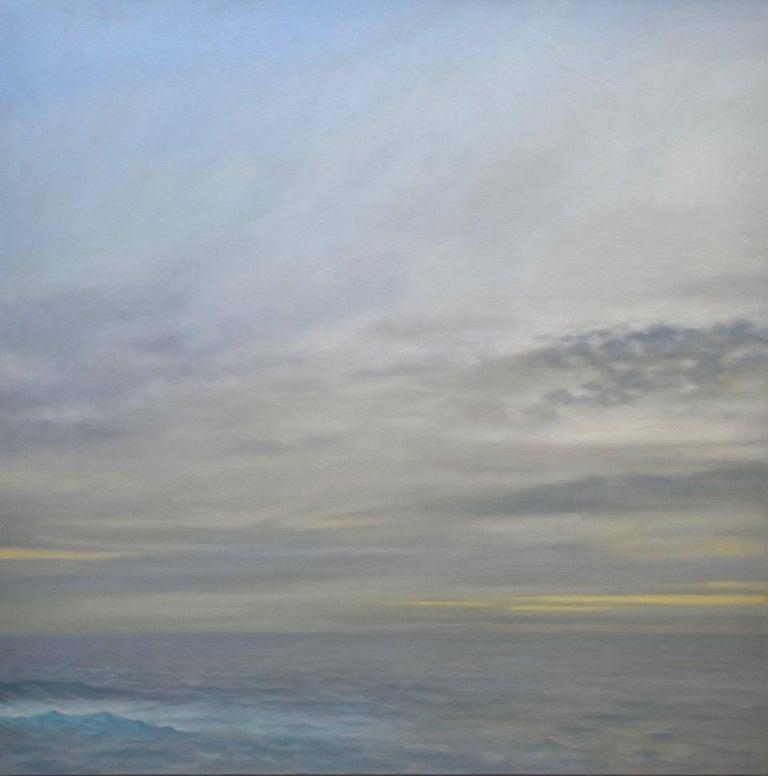 Willard Dixon Still-Life Painting - Grey Ocean