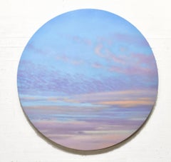 Luminous Sky - circular sky oil painting