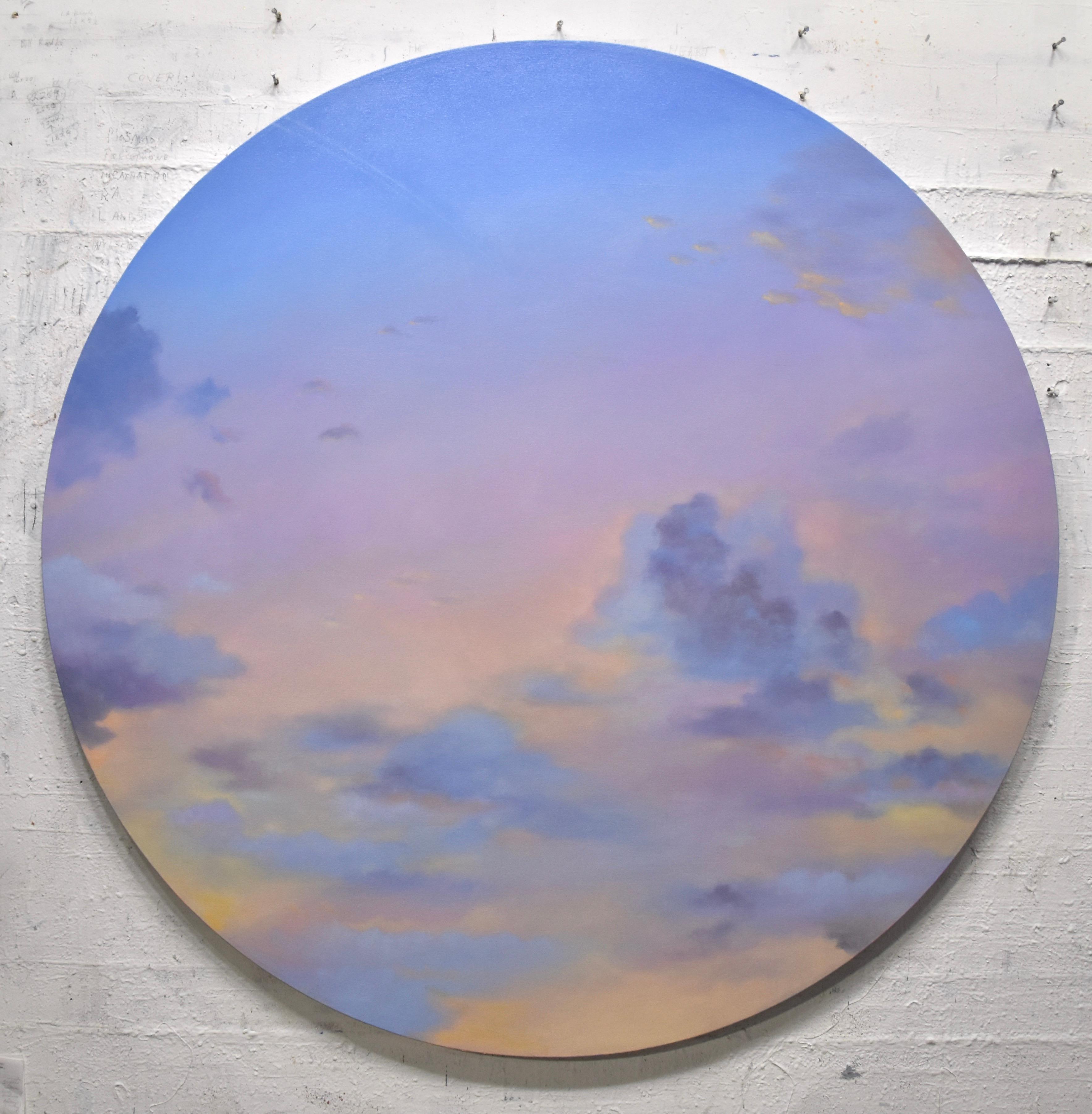 Lush Sky - circular painting