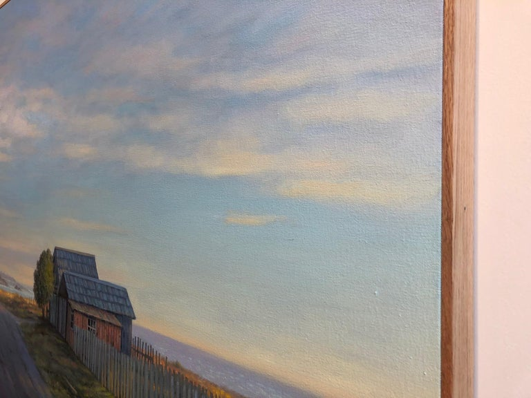 Mendocino Shacks - Painting by Willard Dixon
