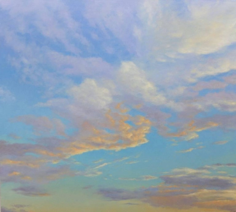 Orange Clouds, oil on canvas sky painting