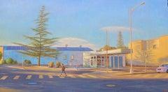 Petaluma Evening / American city scene figurative still life realism