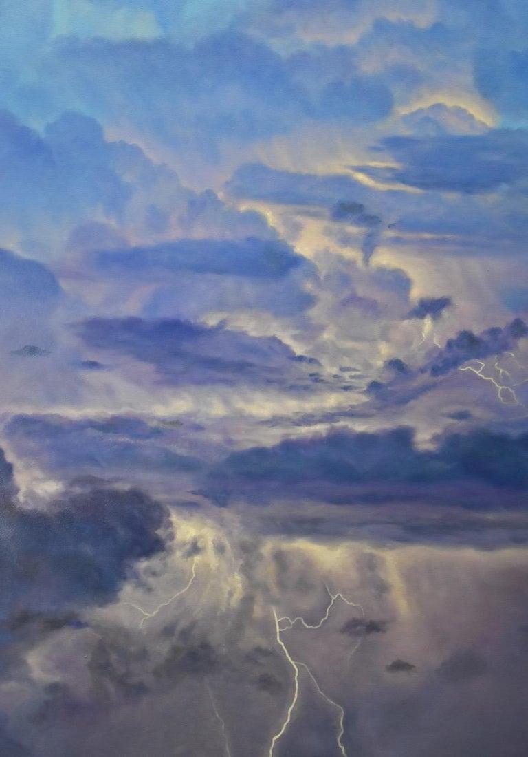 Storm Source / lightning sky - Painting by Willard Dixon