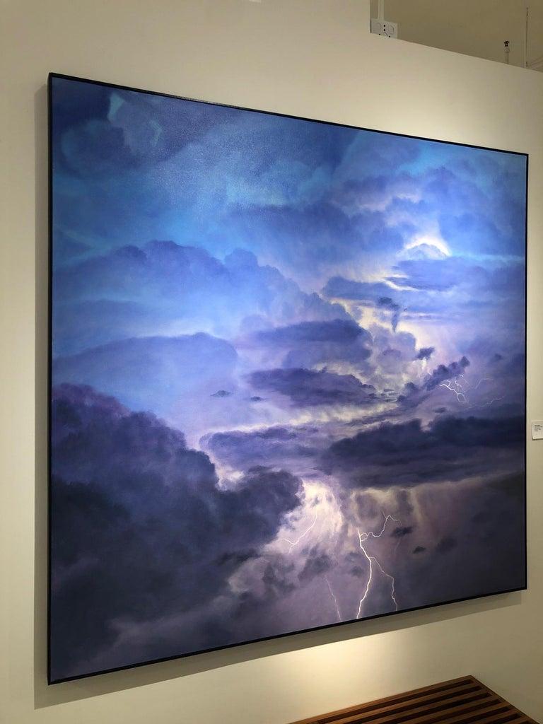 Storm Source / lightning sky - American Realist Painting by Willard Dixon