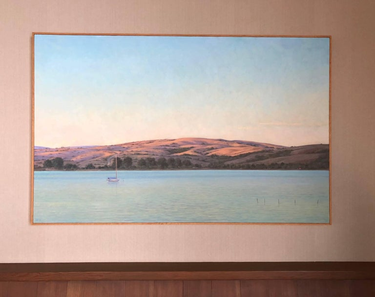 Tamales Bay Evening / oil on canvas - American Realist Painting by Willard Dixon
