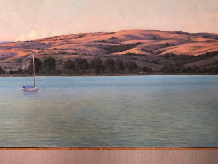 Here, Willard Dixon, one of the finest American contemporary realist painters, has painted an evening scene at California's Tamales Bay, capturing the undeniable beauty of the West with its grand and humble spirit.   Dixon's work can be found in