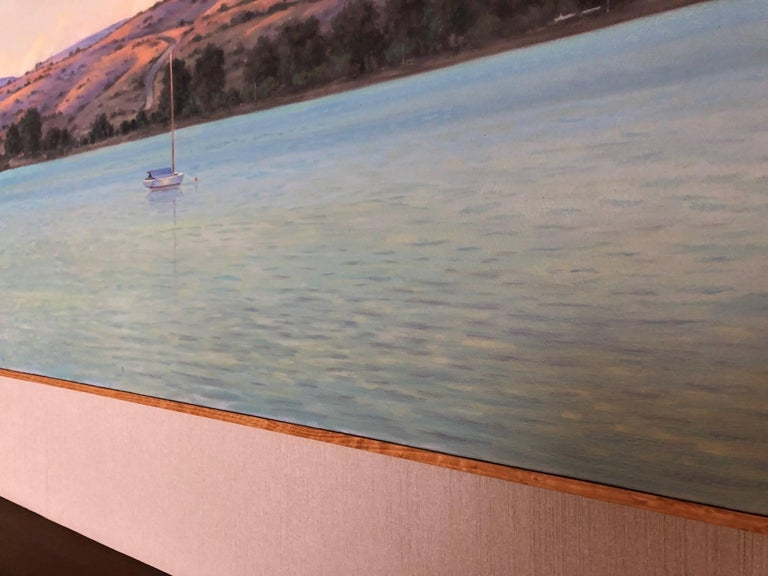 Tamales Bay Evening / oil on canvas For Sale 3