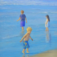 TEAM No. 1 / 30 x 30 inch children beach play in sunlight