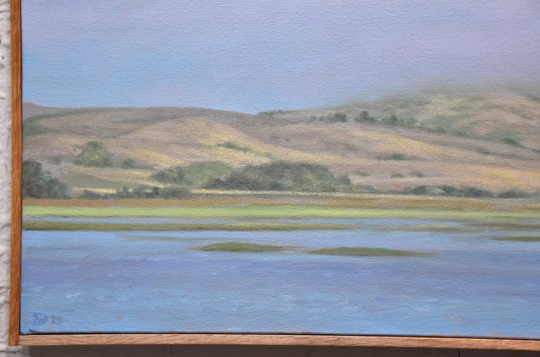 Tomales Bay  - Contemporary Painting by Willard Dixon