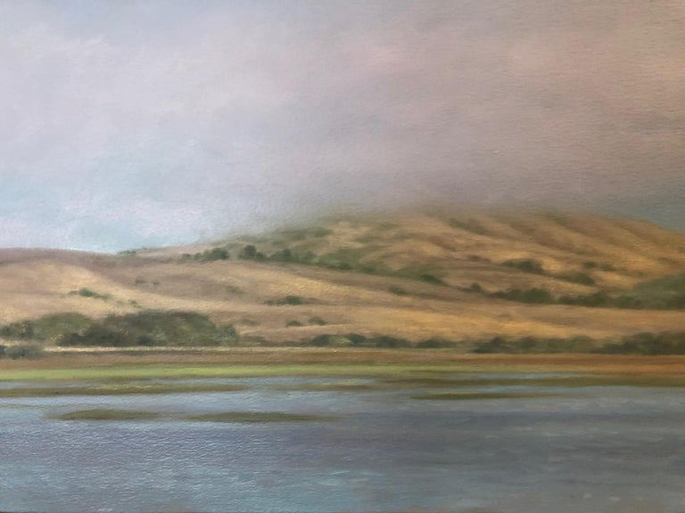 Tomales Bay  - Blue Landscape Painting by Willard Dixon