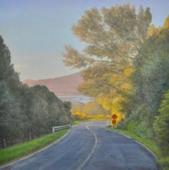Going to Bolinas - Realism oil on canvas painting - California Coast still life