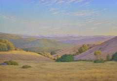 View From the Fire Road / California landscape American realism