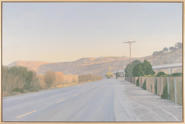 Willard Dixon 'Near San Quentin' Contemporary Realism Landscape Painting For Sale 1