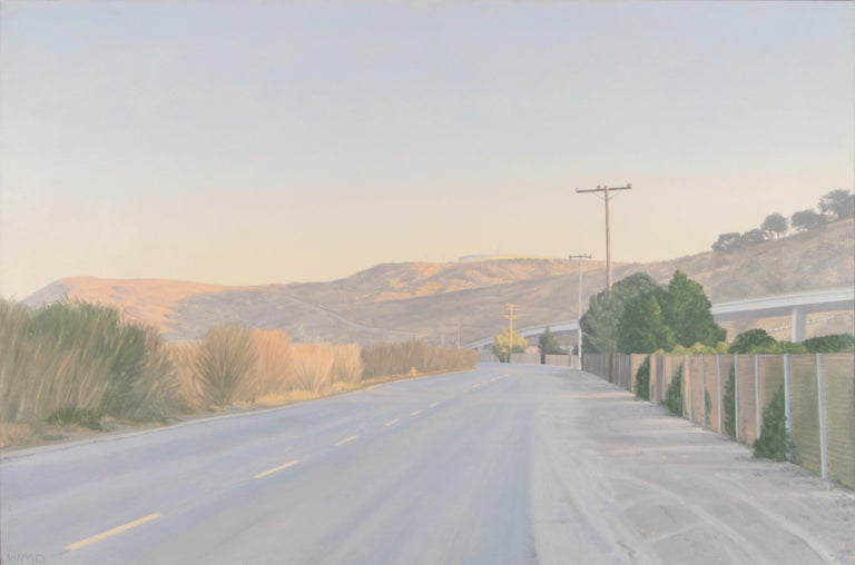 Willard Dixon (American, born 1942)  Near San Quentin, 1976 Oil on Canvas Signed lower left Dated lower right 41in H x 62in W In a natural float frame: 42.5in H x 63.5in W x 1.5in D Marin County based artist Willard Dixon is one of America's finest