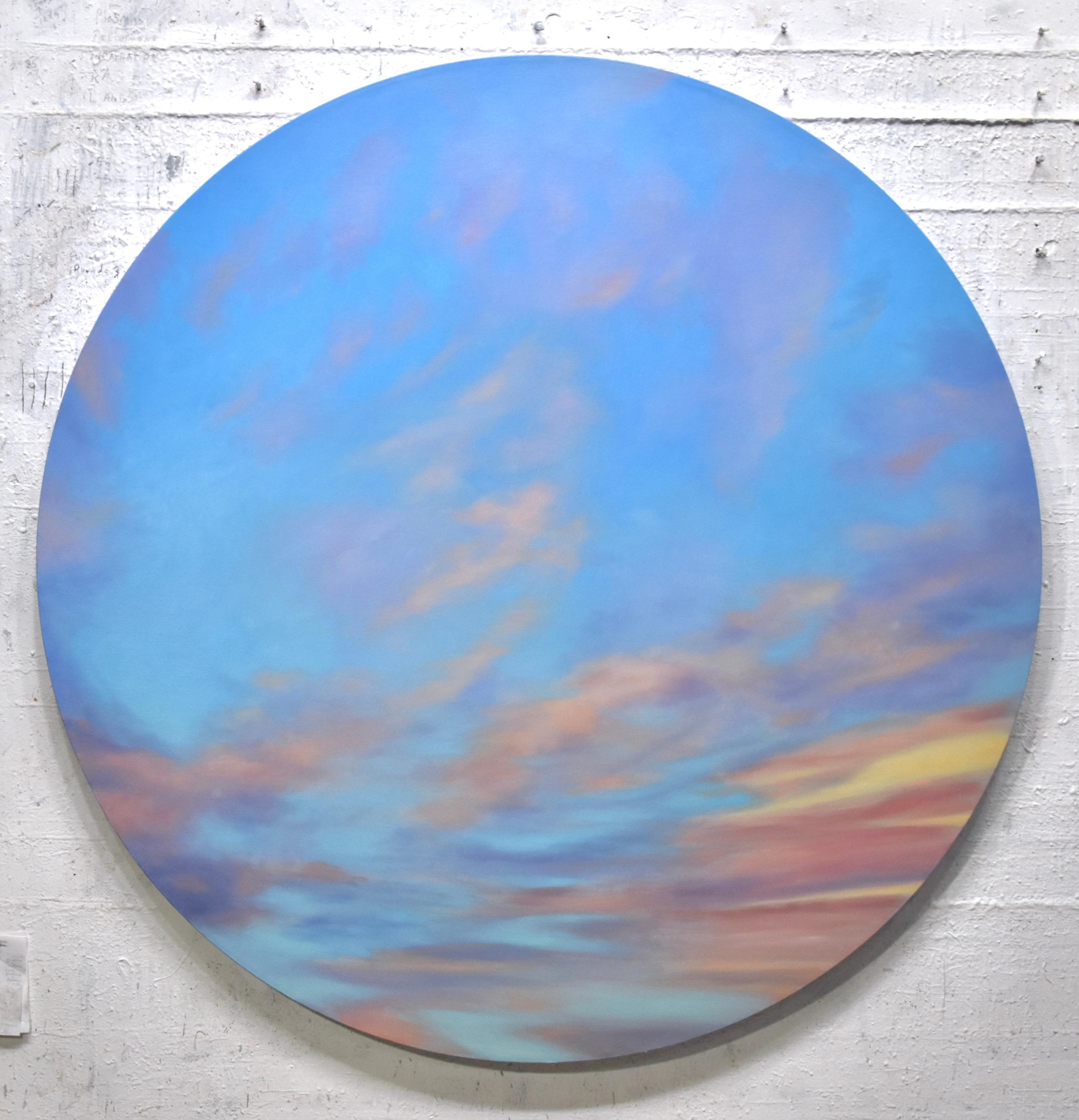 Windy Sky - circular paitning