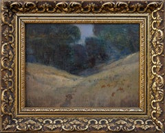 Tonalist Landscape and Oak Trees