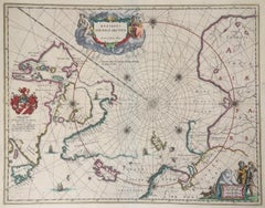BLAEU MAP OF NORTH POLE and ARTIC