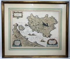 Ischia Isola, olim Aenaria (Antique Italian Map Italy)