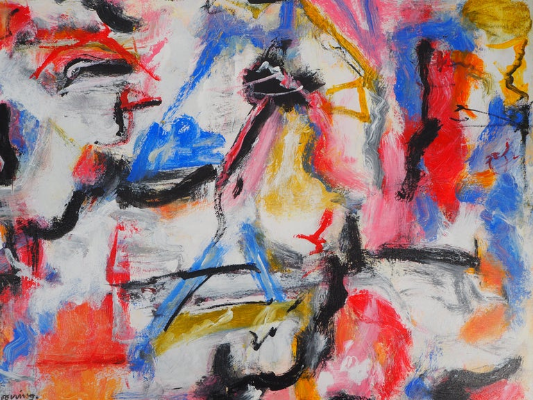 Untitled 1975 - Original Oil on Canvas, Signed For Sale 5