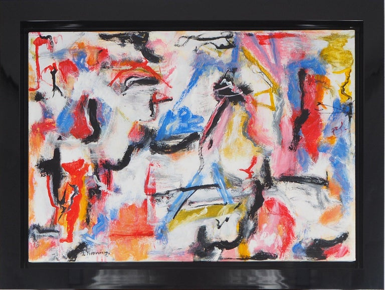 Untitled 1975 - Original Oil on Canvas, Signed For Sale 8