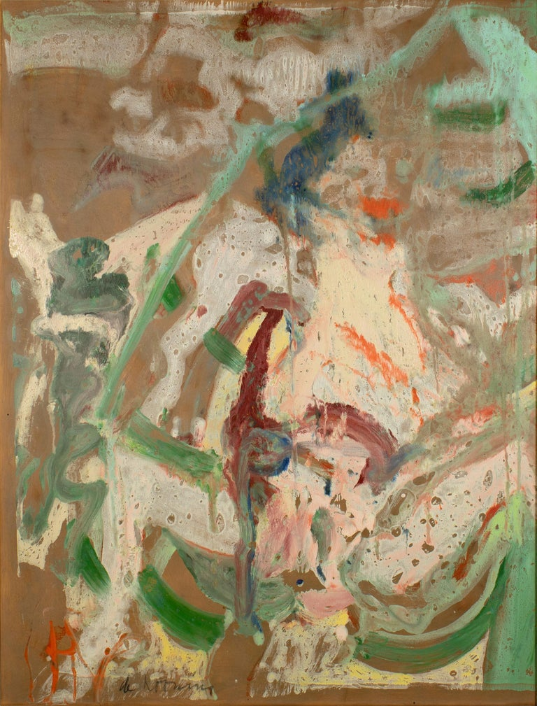 Willem de Kooning Abstract Painting - Woman in a Rowboat