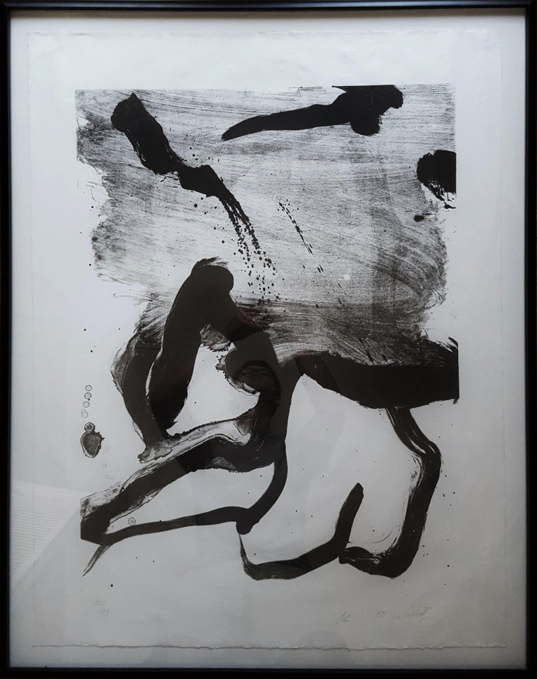 Beach Scene - Abstract Expressionist Print by Willem de Kooning