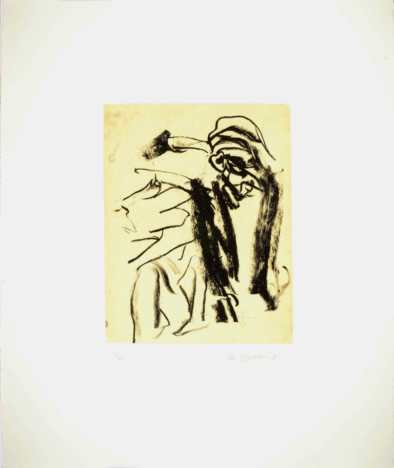Willem de Kooning Abstract Print - Seventeen Lithographs for Frank O'Hara: One plate