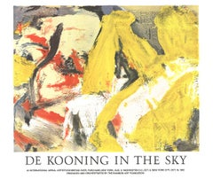 "Willem de Kooning-In the Sky-26"" x 31""-Poster-1982-Expressionism-Yellow, Red"