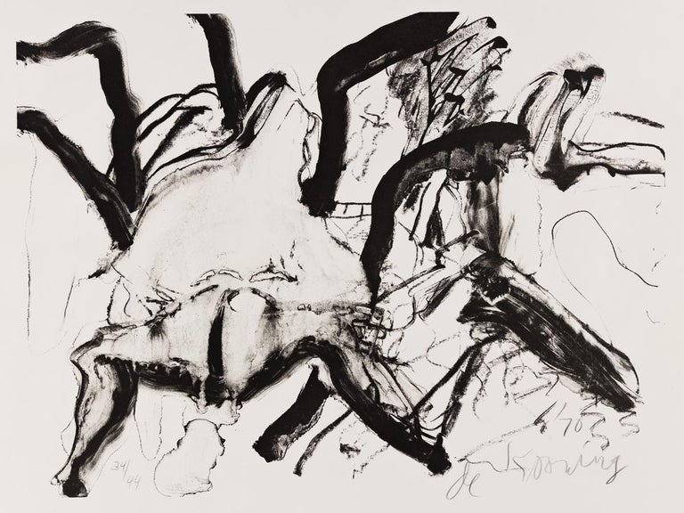 Willem de Kooning Abstract Print - Woman at Clearwater Beach