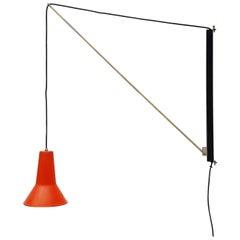 Willem Hagoort Adjustable Wall Arc Lamp Holland, 1950