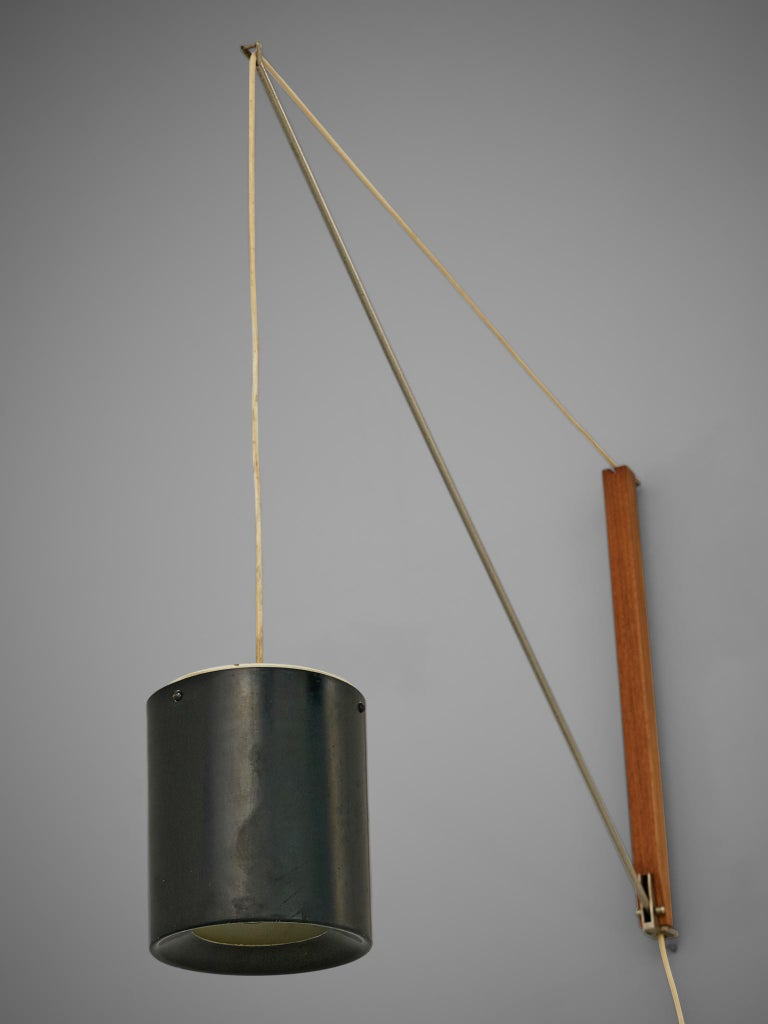 Mid-20th Century Willem Hagoort Wall Lamp 'Arc' For Sale