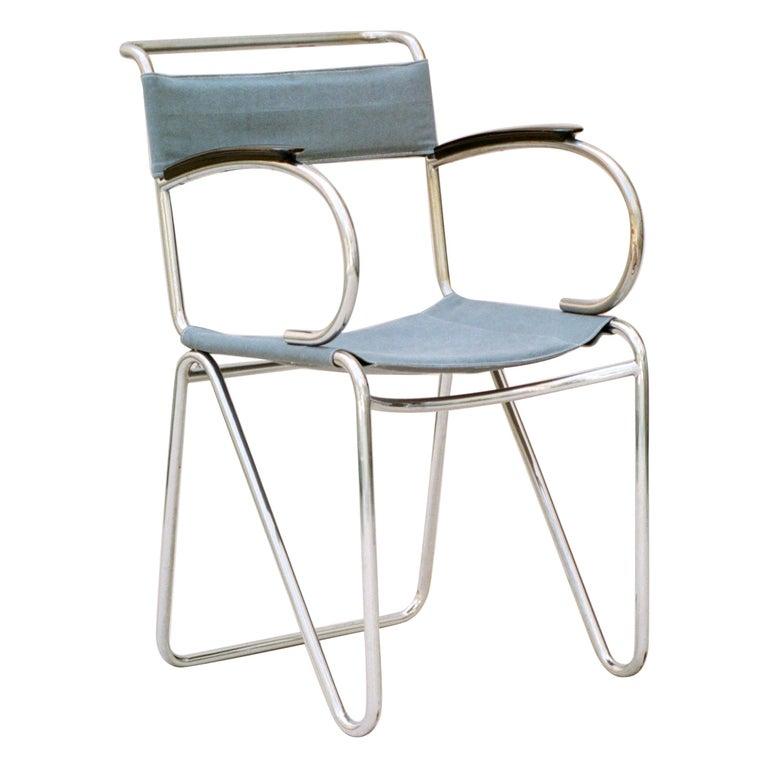 Willem Hendrik Gispen, Rare Diagonal Chair Variant, circa 1930 For Sale