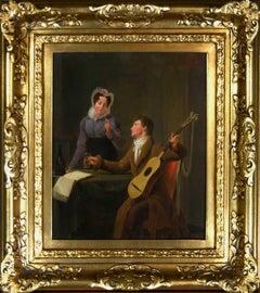 """""""The Musician, or Te veel is ongesond"""" oil painting by Willem Hendrik Schmidt"""