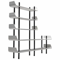 Willem Lutjens Black and White Dutch Design Bookcase