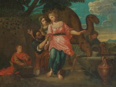 18th C, In the Style of the Classicizing Baroque, Biblical, Rebekka and Eliëzer