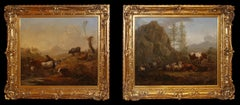 Pair of Dutch paintings, oil on panel, signed W Romeyn