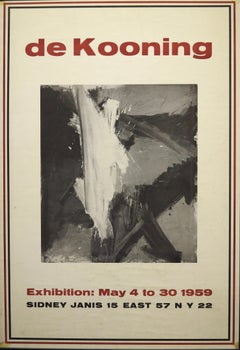Sidney Janis Gallery 1959 Exhibition poster