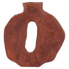 "Willem Van Hooff Contemporary Red Ceramic African Vessel Vase Model ""Toka"", 2021"