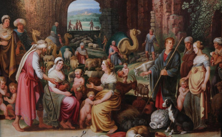 Laban Demanding the Return of the Teraphim from Rachel - Dutch Old Master art For Sale 2