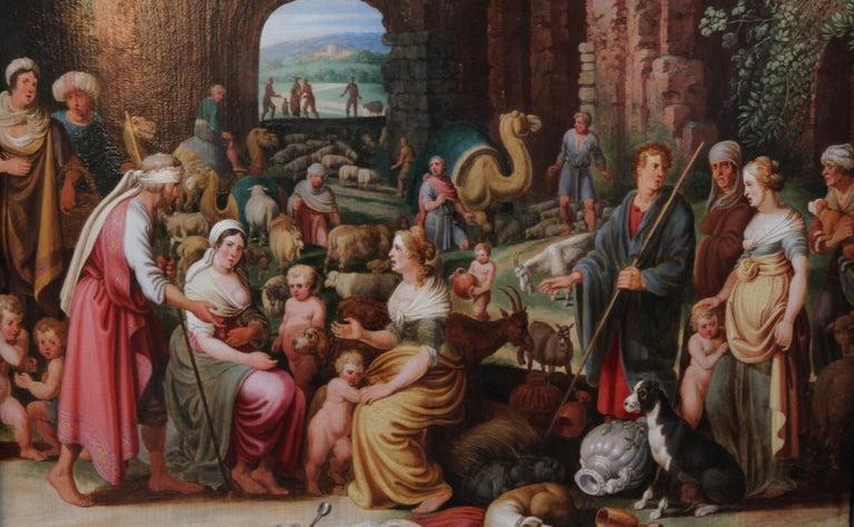 Laban Demanding the Return of the Teraphim from Rachel - Dutch Old Master art - Old Masters Painting by Willem van Nieulandt II