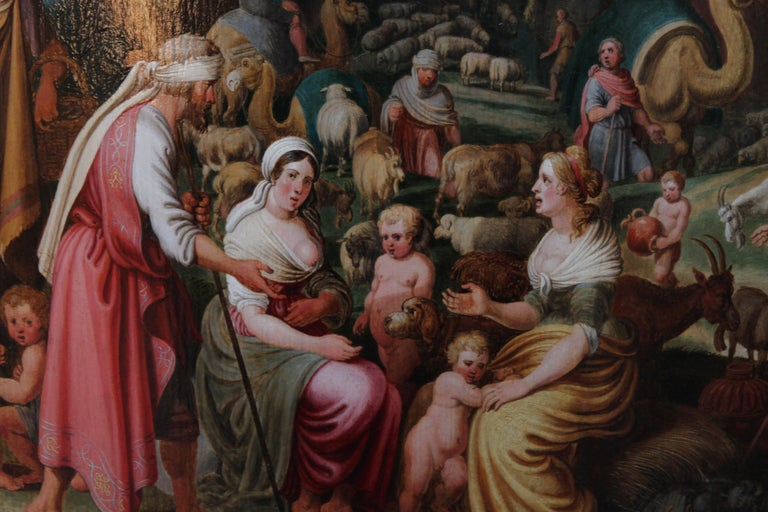 Laban Demanding the Return of the Teraphim from Rachel - Dutch Old Master art For Sale 4