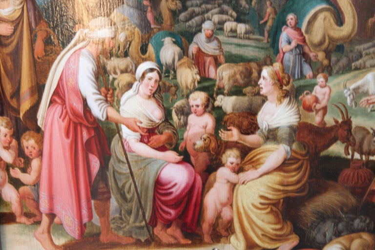 Laban Demanding the Return of the Teraphim from Rachel - Dutch Old Master art For Sale 1